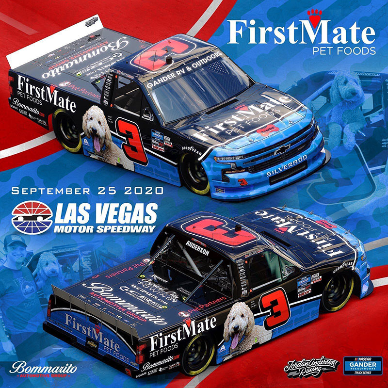 "Jordan Anderson debuts the ""Brecks Best Friend Truck"" with two new partners at Las Vegas Motor Speedway"