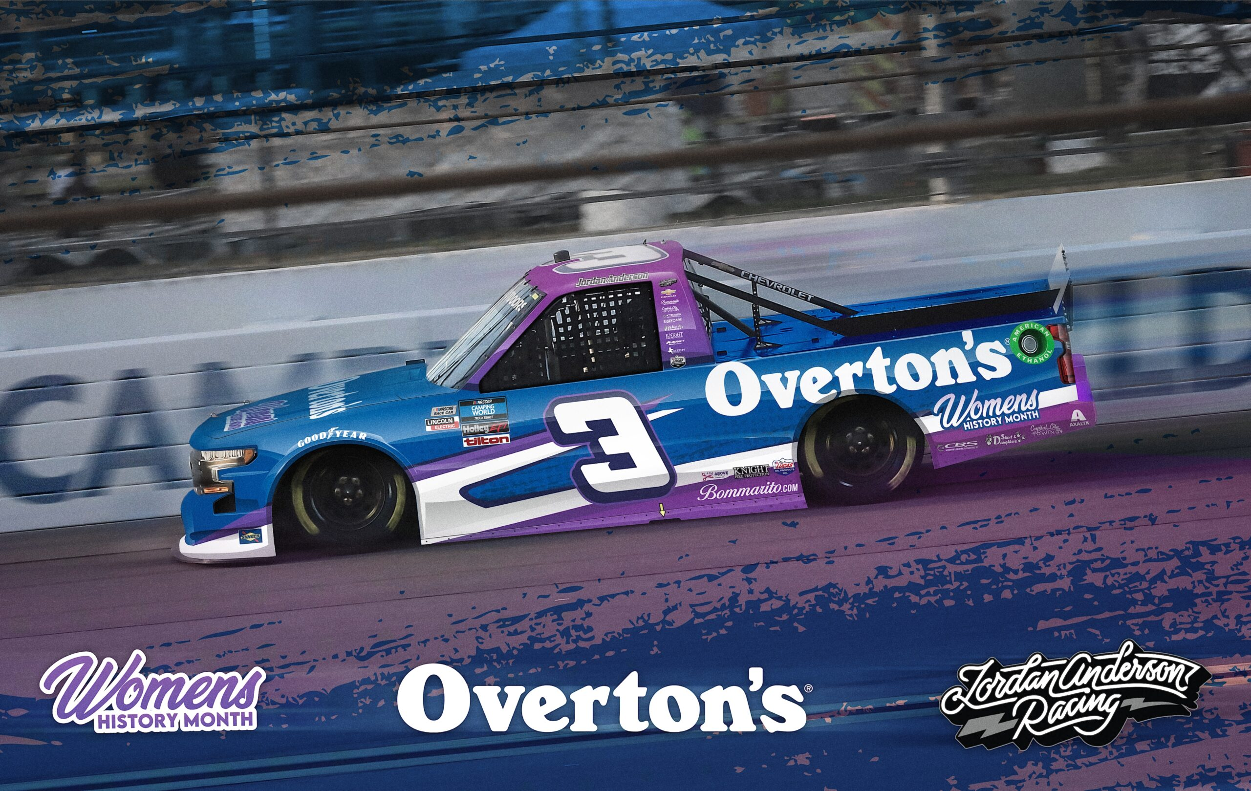 In a Celebration of Woman's History Month Overton's Partner with Jordan Anderson Racing for Atlanta Truck Race