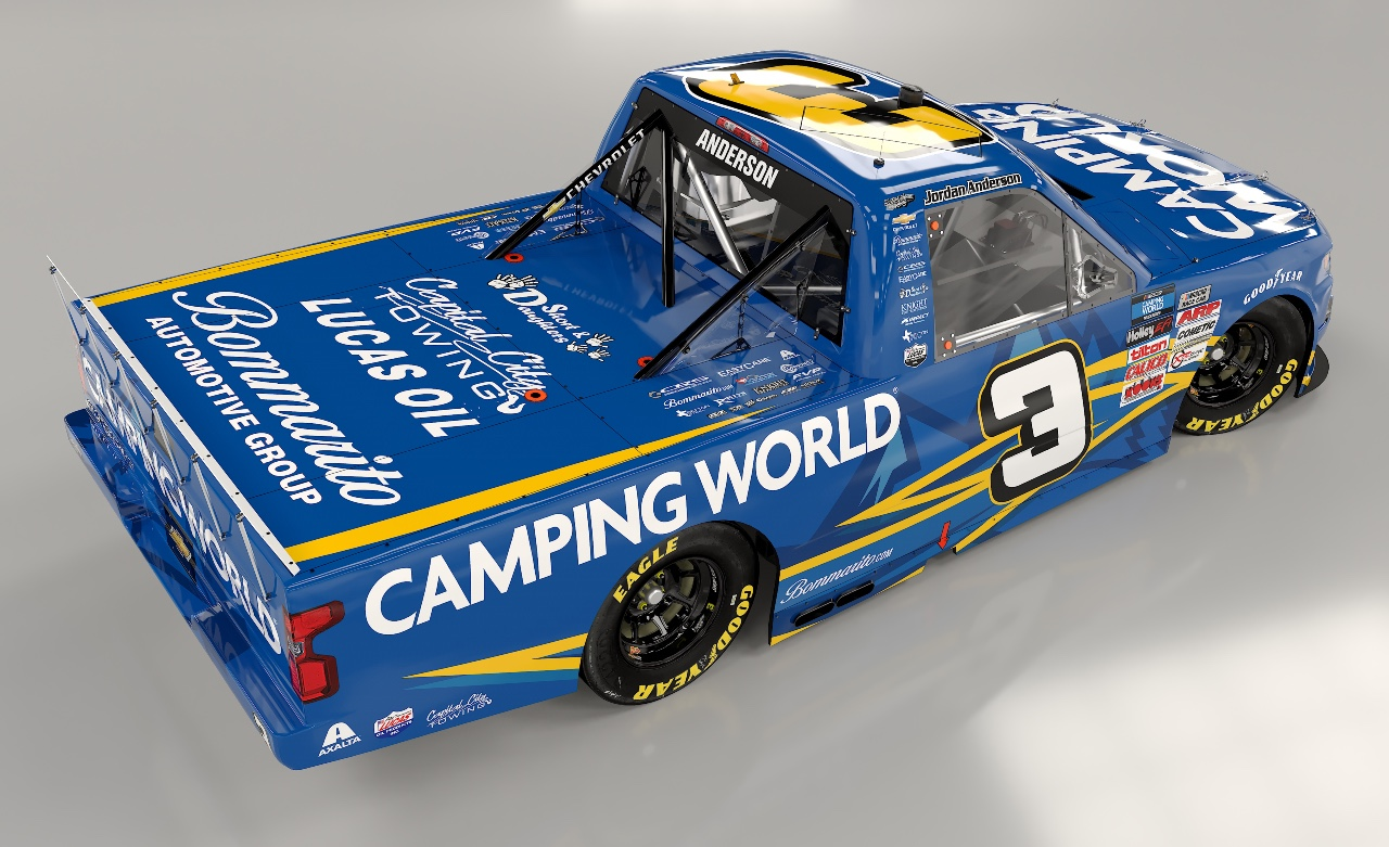 Jordan Anderson Racing NASCAR Camping World Truck Series Race Overview- Las Vegas Motor Speedway; Friday, March 5, 2021
