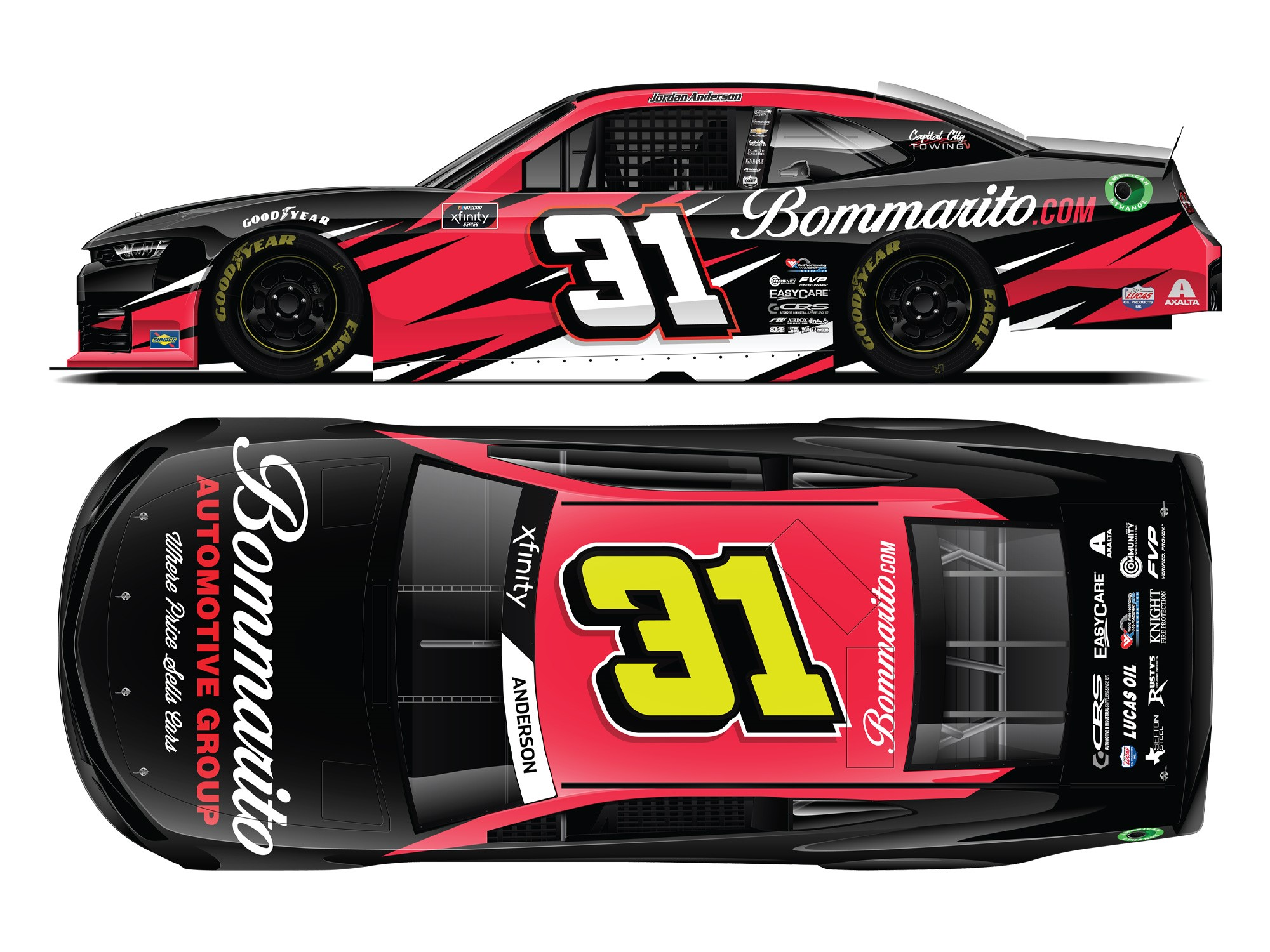 NOW AVAILABLE FOR ORDER; 2021 Jordan Anderson No. 31 Bommarito.com Chevrolet Camaro Die-Cast