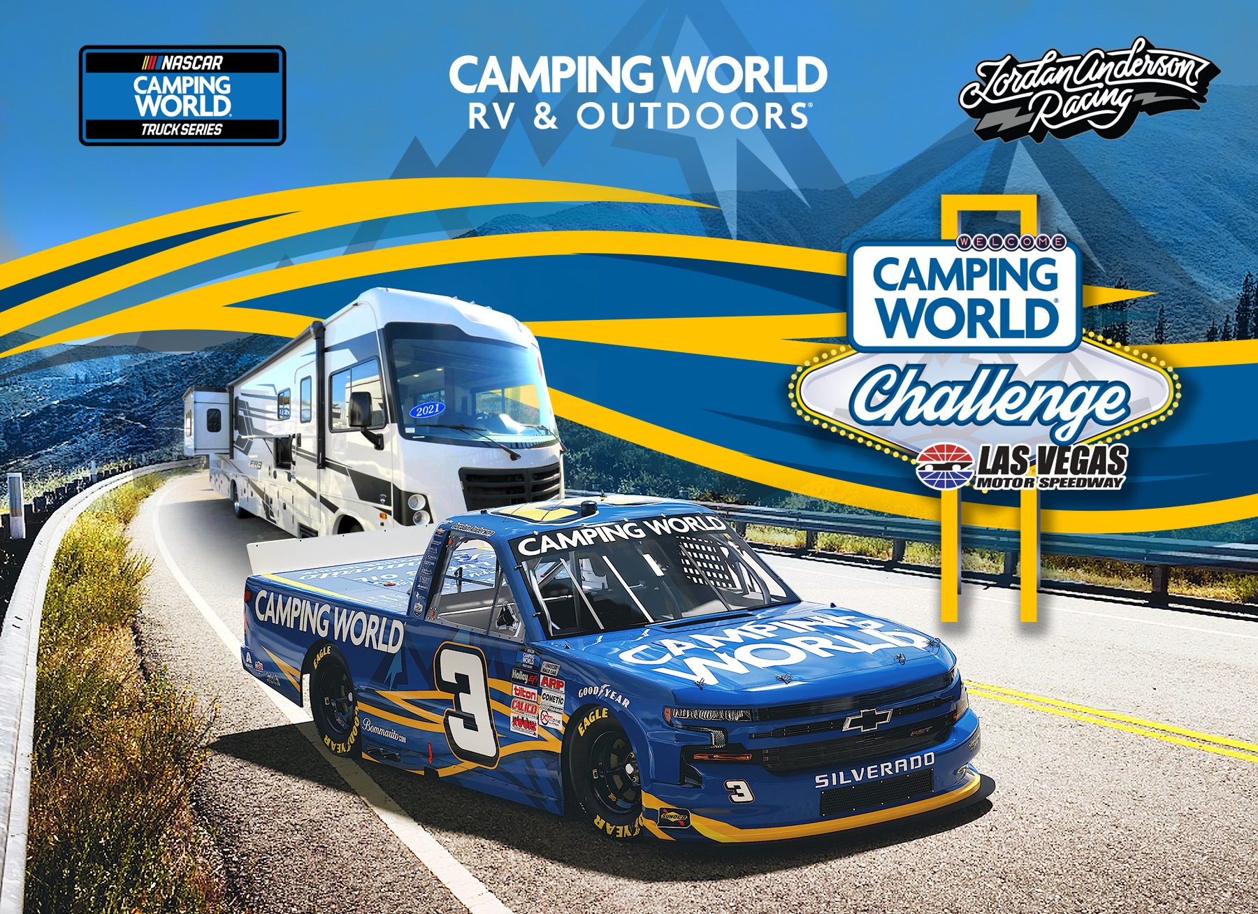 Camping World to Partner with Jordan Anderson Racing for Las Vegas Truck Race in Camping World Challenge