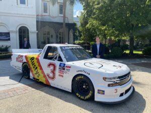 Jordan Anderson Unveils Darlington Throwback Truck at S.C. Governor's Mansion with S.C. Gov. Henry McMaster and Lt. Gov. Pamela Evette