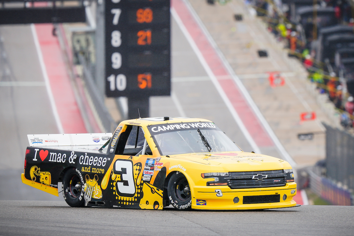 Jordan Anderson Racing NASCAR Camping World Truck Series Race Report – Circuit of the Americas; May 22, 2021