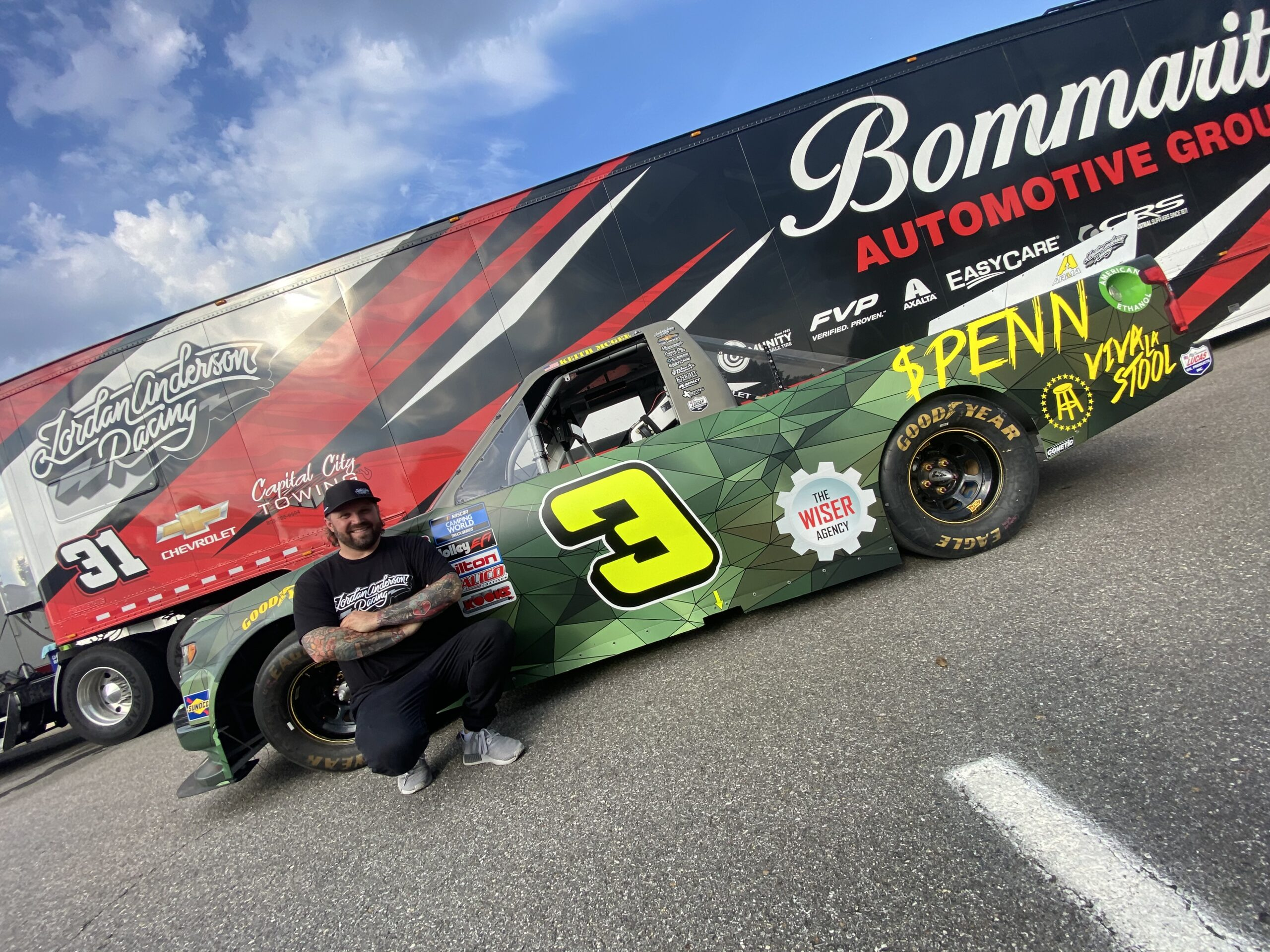 Military Veteran Keith McGee to Drive for Jordan Anderson Racing in NASCAR Camping World Truck Series on Memorial Day Weekend