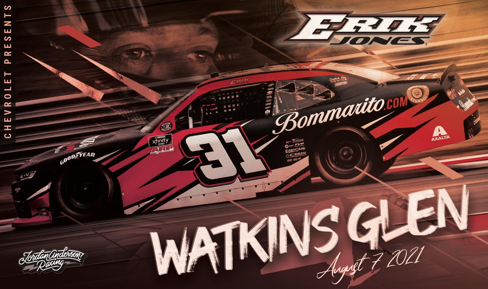 Erik Jones Returns to the Xfinity Series Driving for Jordan Anderson Racing at Watkins Glen