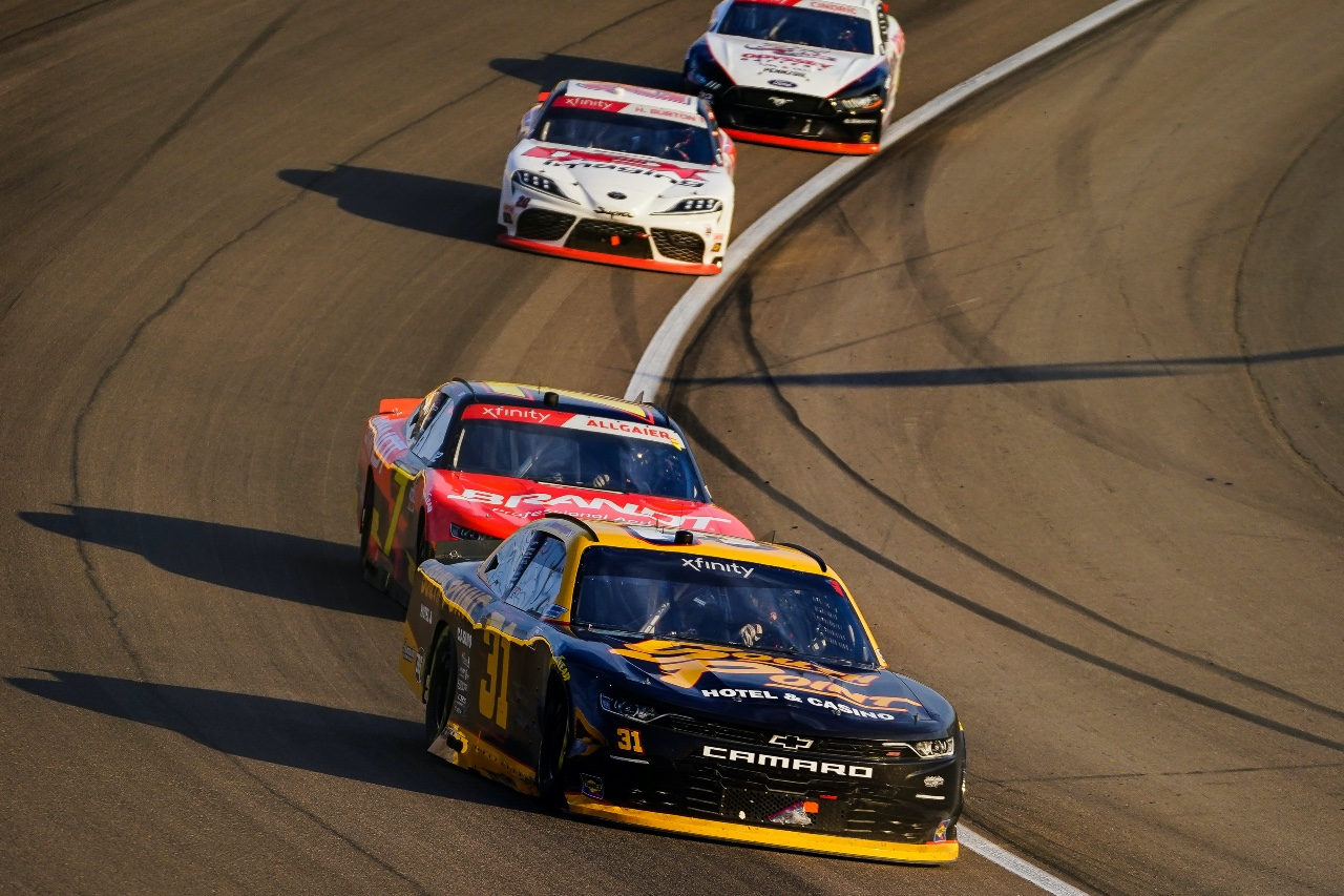 Ty Dillon & Jordan Anderson Racing Lead First Laps on Way to Eighth Place Finish at Las Vegas Motor Speedway