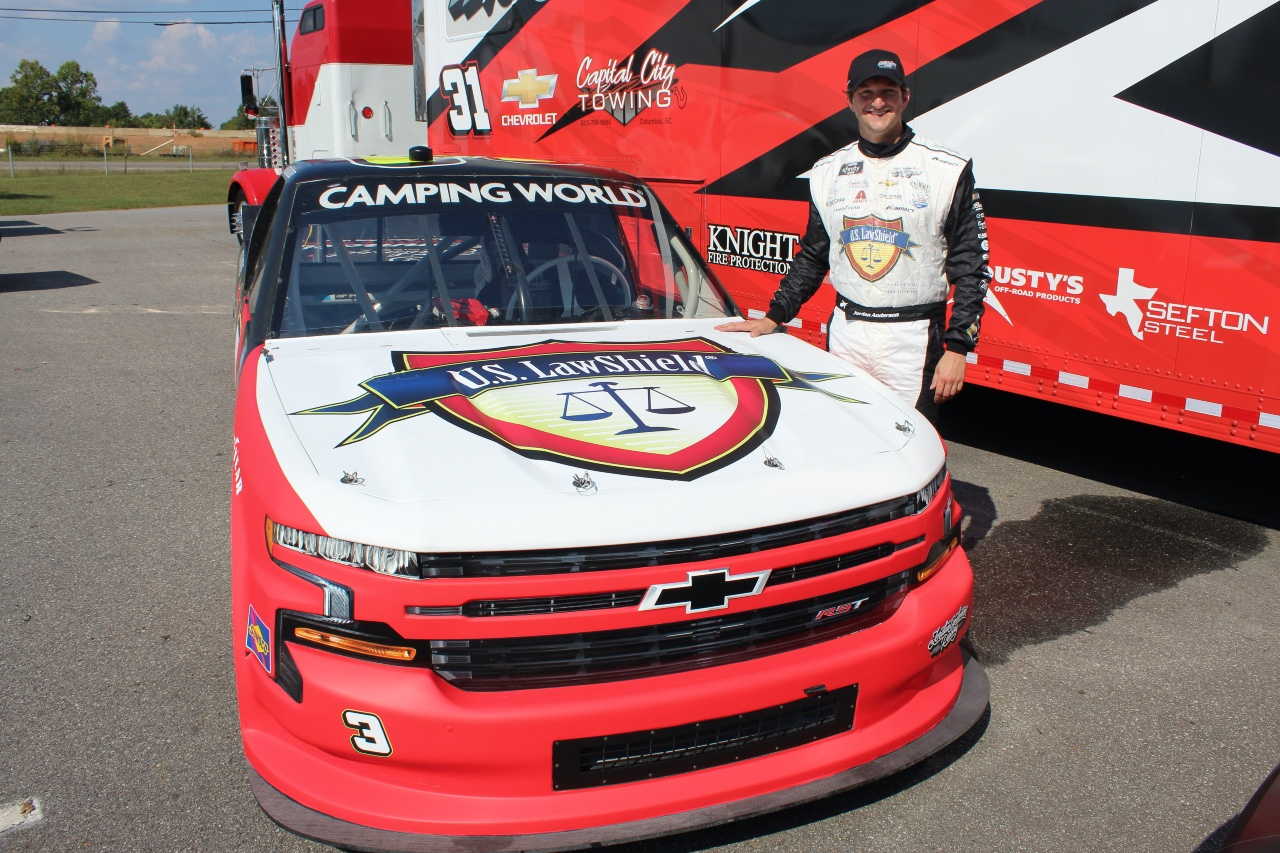 U.S. LawShield To Partner with Jordan Anderson for Talladega Superspeedway Truck Race