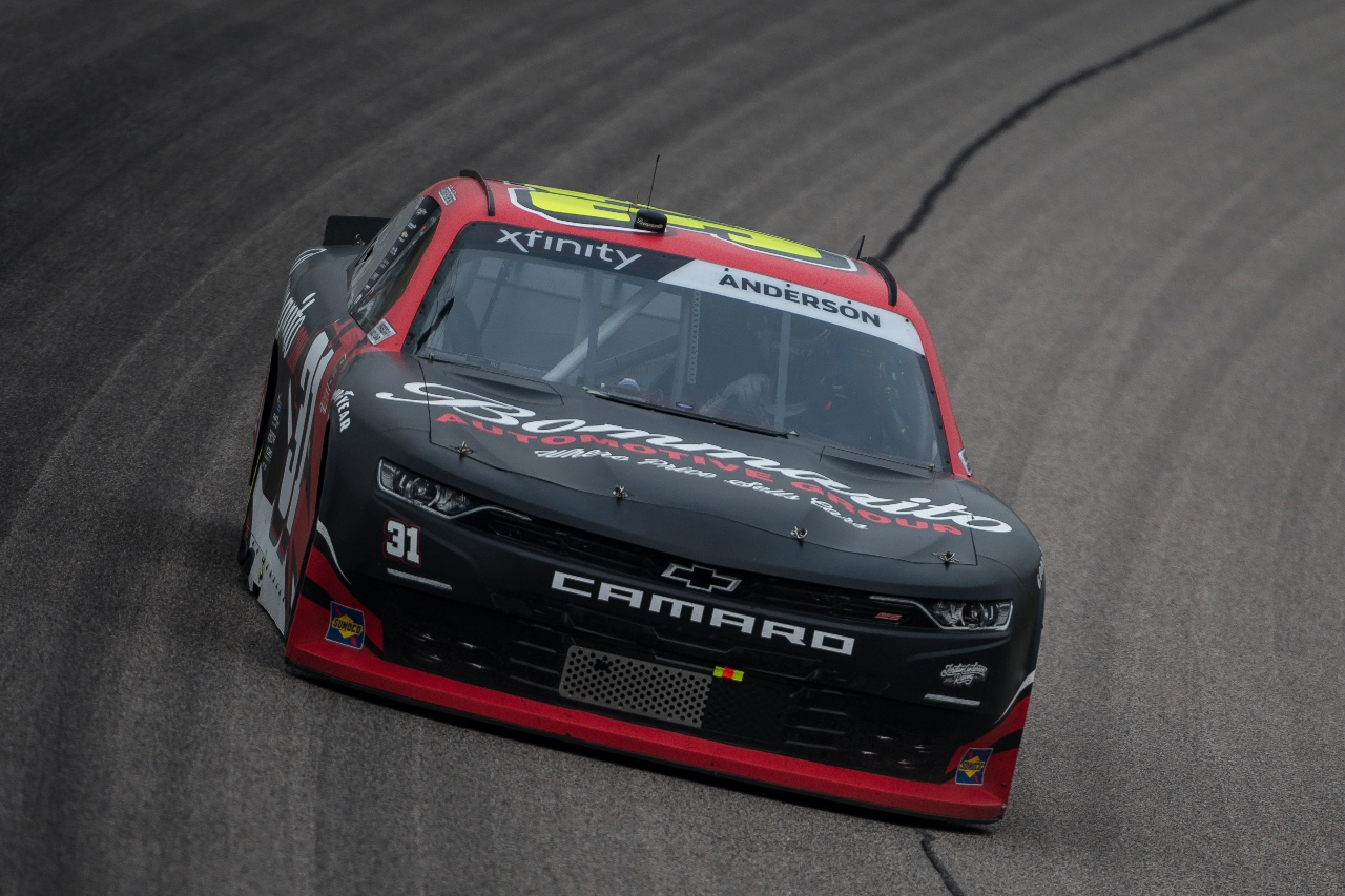 Anderson Drives to Top-20 at Kansas Speedway in Xfinity Series Action
